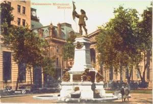 Monument De Maisonneuve-couleurs retouchées